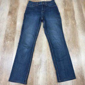 NYDJ Dark Wash Straight Leg Jeans Wm Sz 8